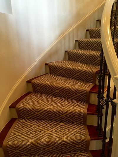 sisal carpet rug runner on stairs steps Charlotte NC